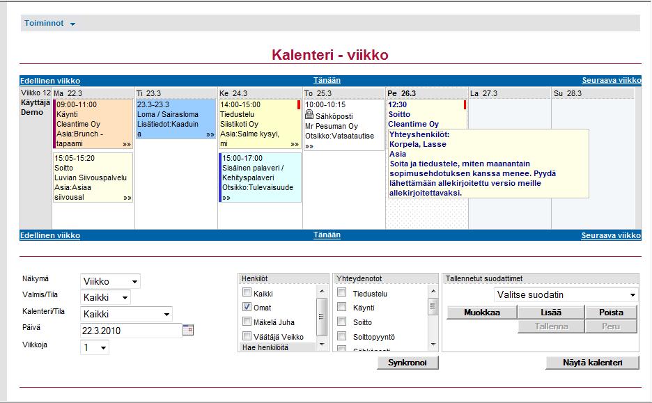 Microsoft Kalenteri